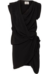 Vivienne Westwood Draped Crepe De Chine Dress Black