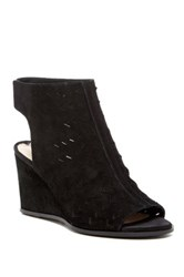Via Spiga Leatrice Perforated Wedge Sandal Black