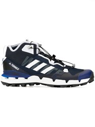 White Mountaineering Lace Up Sneakers Blue