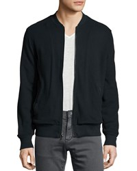 John Varvatos Star Usa Full Zip Cotton Jacket Black