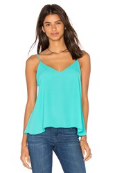 Eight Sixty V Neck Tank Green