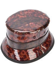 Givenchy Tortoiseshell Effect Bucket Hat Men Pvc One Size Brown