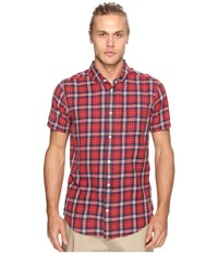 Rvca Sid Short Sleeve Woven Pompei Red Men's Clothing