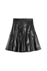 Marc By Marc Jacobs Faux Leather Skirt Black