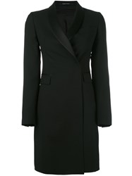 Tagliatore Fitted Tuxedo Coat Black