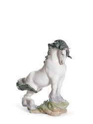 Lladro Retired The Horse Porcelain Figurine