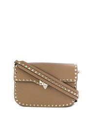 Valentino Garavani Rockstud Shoulder Bag Brown