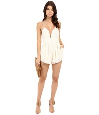 Style Stalker Empire Romper Ivory Women's Jumpsuit And Rompers One Piece White