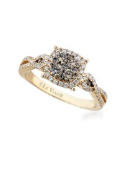 Levian Chocolatier 14K Honey Gold Vanilla And Chocolate Diamond Ring Yellow Gold