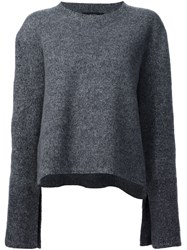 Ellery Flared Sleeves Jumper Grey