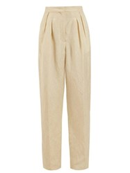 Golden Goose Deluxe Brand Felicia High Rise Pleated Trousers Beige