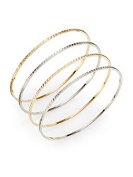 Chamak By Priya Kakkar Slim Mixed Bangle Bracelet Set Gold Silver