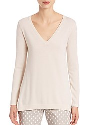 Peserico Lurex V Neck Top Beige