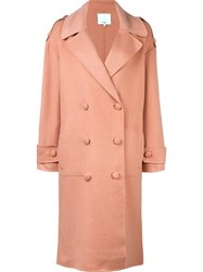 Tibi 'Monpe' Coat Pink And Purple
