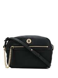 Tommy Hilfiger Logo Plaque Crossbody Bag Black