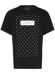 Sophnet. Logo Print Cotton T Shirt Black