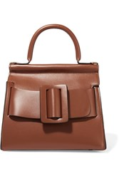 Boyy Karl24 Small Buckled Leather Tote Brown