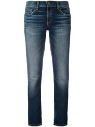 Rag And Bone Cropped Jeans Women Cotton 27 Blue