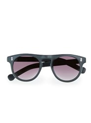 Topman Black Flat Top Round Sunglasses Multi