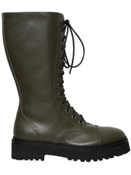 Moschino 40Mm Leather Combat Boots