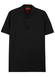 Hugo Duxor Black Cotton Polo Shirt