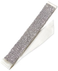 Jewel Badgley Mischka Silver Tone Crystal Ribbon Sash