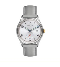 John White Farer Stark Stainless Steel And Leather Watch