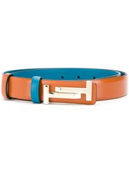 Tod's Two Tone Buckle Belt Brown