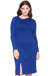 Plus Size Women's Eloquii Fold Neck Ponte Sheath Dress
