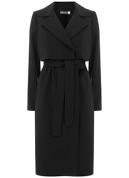 Mint Velvet Black Double Layer Trench Black