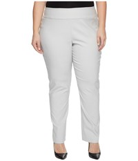 Nic Zoe Plus Size Wonderstretch Pants Smoke Women's Dress Pants Gray