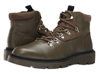 Calvin Klein Raymon Moss Green Smooth Calf Leather Men's Boots Brown