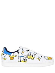 Moa Master Of Arts Donald Duck Printed Leather Sneaker