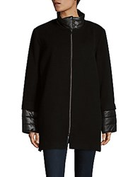 Cinzia Rocca Mix Media Jacket Black