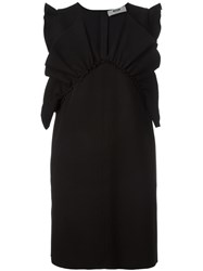 Msgm Ruffled Shift Dress Black