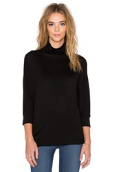 Velvet By Graham And Spencer Shaylene Lux Gauze Turtleneck Black