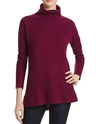 Velvet By Graham And Spencer Merrit Turtleneck Cashmere Sweater Bordeaux