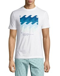 Penguin Wave Graphic Jersey T Shirt White