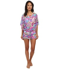 Luli Fama Sol Brillante South Beach Dress Cover Up Multicolor Women's Swimwear
