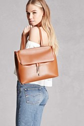 Forever 21 Faux Leather Satchel Rust