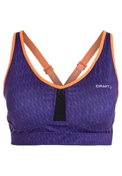 Craft Sports Bra Dynasty Lilac Flourange White Purple