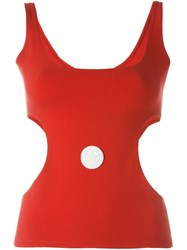 Jean Paul Gaultier Vintage Cut Out Tank Top Red