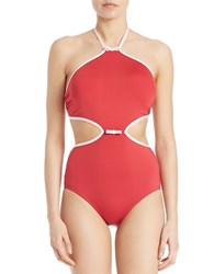 Kate Spade Plage Du Midi One Piece Swimsuit Posy Red