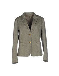 M.Grifoni Denim Suits And Jackets Blazers Women Military Green
