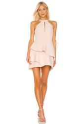 Bcbgmaxazria Ruffle Cocktail Dress Pink