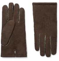 Dents Shearling Gloves Brown