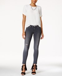 Hudson Jeans Ripped Stormy Horizon Wash Super Skinny Ankle