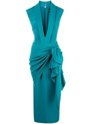 Christian Siriano Waterfall Waist Dress 60
