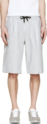 Msgm Grey Coated Shorts
