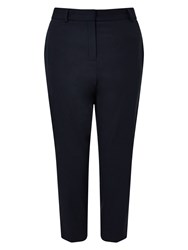 Eastex Button Detail Cropped Trouser Navy